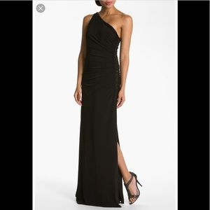 Laundry by Shelli Segal One Shoulder Beaded Gown